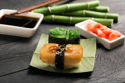 Carta da parati Sushi con frittata giapponese