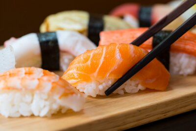 Carta da parati Sushi set, Japanese food