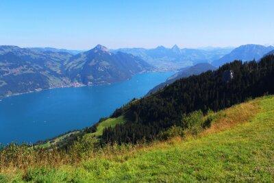 Carta da parati Svizzera, montagna e lago