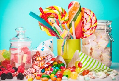 Carta da parati Sweet, sugar, bags.
