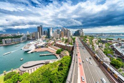Carta da parati SYDNEY - 7 novembre 2015: Vista panoramica della città. Sydney attrae