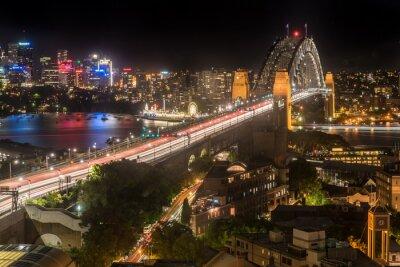 Carta da parati Sydney Harbour Bridge di notte
