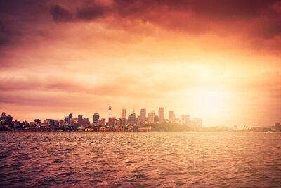 Carta da parati Sydney skyline al tramonto