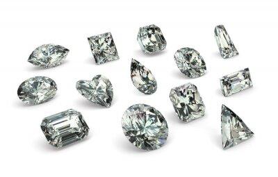 Carta da parati Tagli di diamante