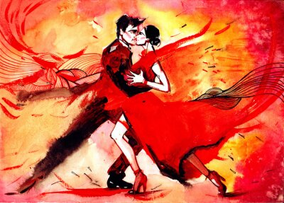 Carta da parati tango