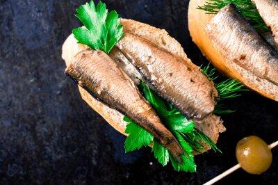 Carta da parati Tapas a base di pesce