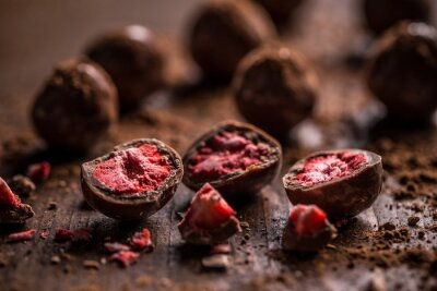 Carta da parati tartufi al cioccolato fondente