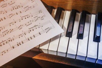 Carta da parati Tasti del pianoforte e spartiti