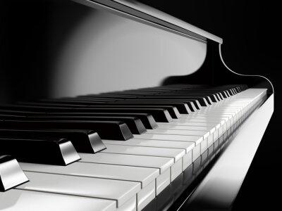 Carta da parati tasti di pianoforte pianoforte nero