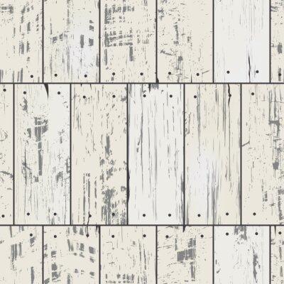 Carta da parati Tavole di legno d'imitazione con chiodi. Vector seamless retro pattern