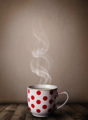 Carta da parati Tazza di caffè con abstract vapore bianco