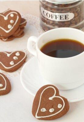 Carta da parati Tazza di caffè e biscotti al cioccolato