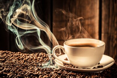 Carta da parati Tazza di caffè Pulsante con semi tostati