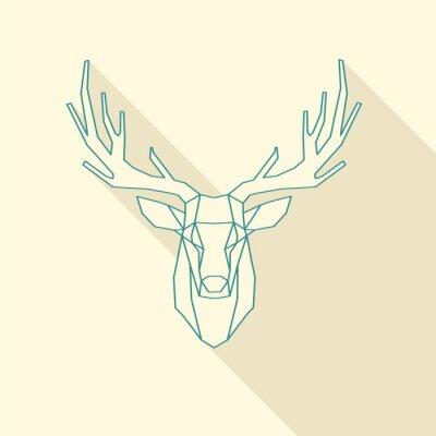 Carta da parati telaio cervo