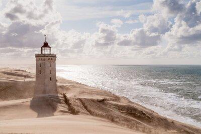 Carta da parati Tempesta di sabbia al faro