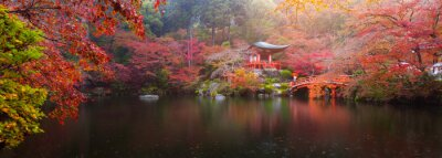 Carta da parati Tempio di Daigo-ji in autunno