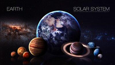 Carta da parati Terra - risoluzione 5K Infografica presenta uno del pianeta sistema solare. Questi elementi immagine fornita dalla NASA