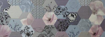 Carta da parati tessere di mosaico astratto portoghese