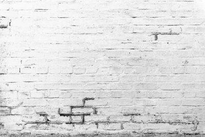 Carta da parati tessitura di mattoni con graffi e crepe