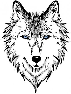 Carta da parati Testa del lupo