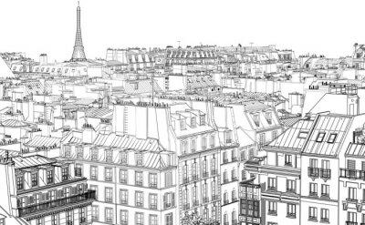 Carta da parati tetti di Parigi