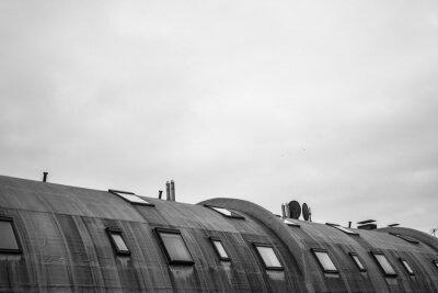 Carta da parati tetto rotondo