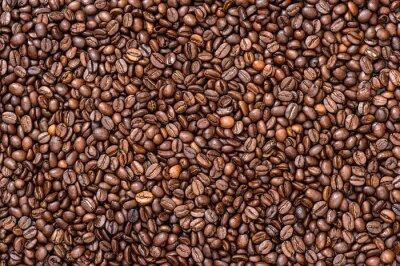 Carta da parati texture di sfondo caffè. fagioli Brown