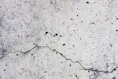 Carta da parati Texture di sfondo di un muro, in cemento, con crepa Che scorre orizzontalmente