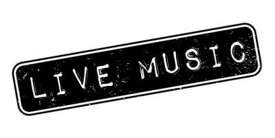 Carta da parati Timbro di gomma in musica dal vivo. Grunge con graffi di polvere. Gli effetti possono essere facilmente rimossi per un aspetto pulito e nitido. Il colore è facilmente modificabile.
