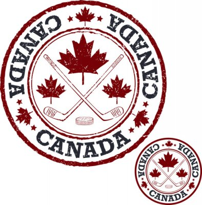 Carta da parati timbro di hockey canadese.