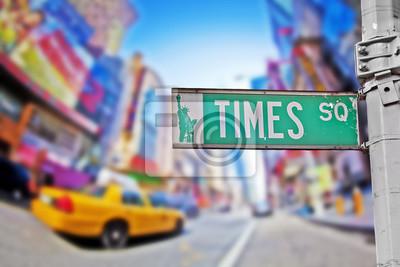 Carta da parati Times square sign
