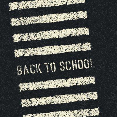 Carta da parati Torna a scuola. Concetto di sicurezza stradale. Vector.