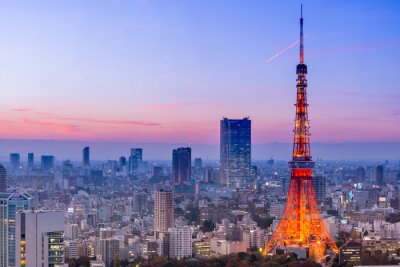 Carta da parati Torre di Tokyo, Tokyo, Giappone