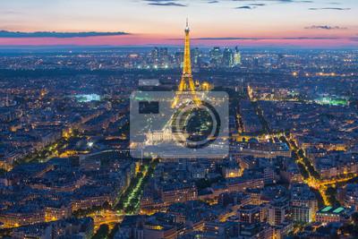 Carta da parati Torre Eiffel a Parigi, Francia