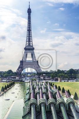 Carta da parati Torre Eiffel e le fontane del Trocadero.