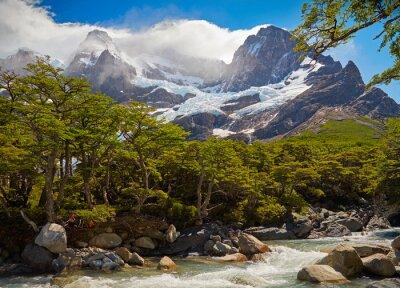 Carta da parati Torres del Paine National Park. Patagonia, Cile
