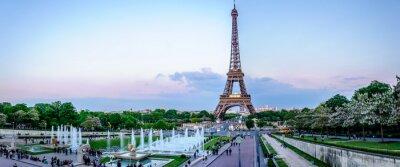 Carta da parati Tour Eiffel au crépuscule