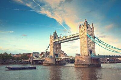Carta da parati Tower Bridge, al tramonto, London