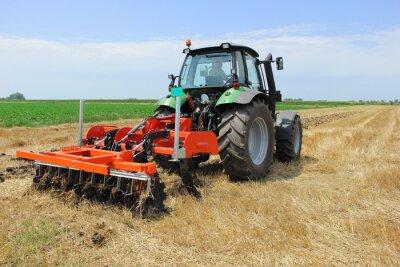Carta da parati Tractor on the field