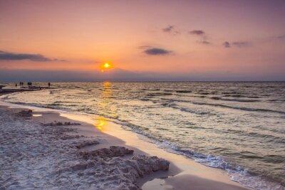 Carta da parati Tramonto del mare in Polonia