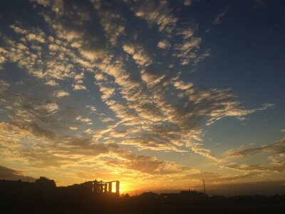 Carta da parati tramonto nuvole