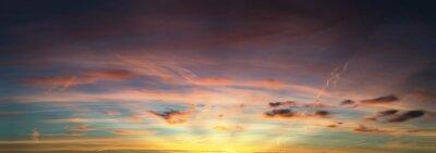 Carta da parati tramonto panorama del cielo