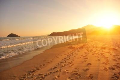 Carta da parati tramonto sulla spiaggia