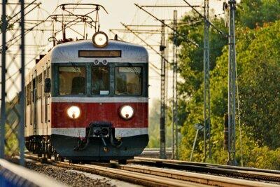 Carta da parati trasporto ferroviario