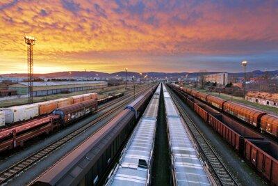 Carta da parati Trasporto su rotaia - Cargo industria ferroviaria