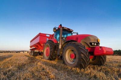Carta da parati Trattore agricoltura e rimorchio