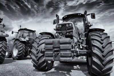 Carta da parati trattori agricoli giganti e pneumatici
