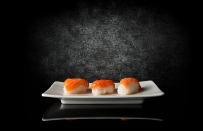 Carta da parati Tre sushi su nero