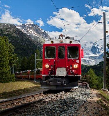 Carta da parati trenino rosso del Bernna