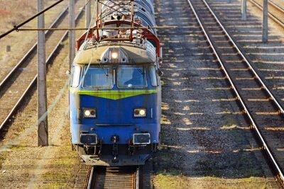 Carta da parati treno del carico